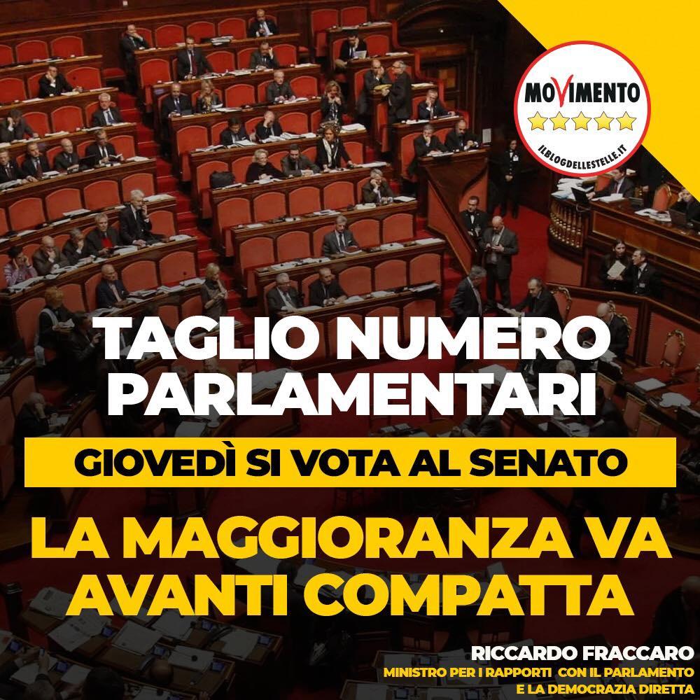 Taglio al numero dei parlamentari la maggioranza va for Numero deputati italiani