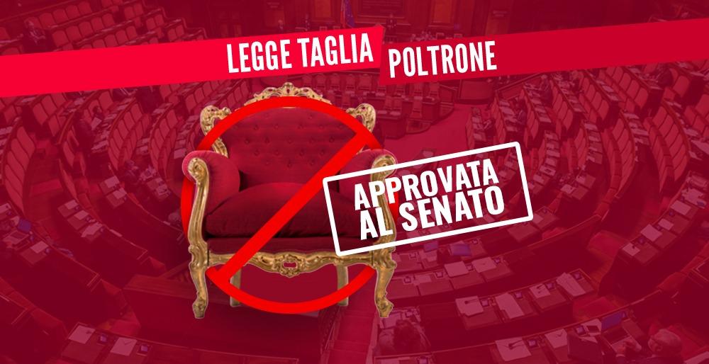 Tagliapoltrone approvato al senato siamo a un passo da un for Numero deputati italiani