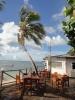 Het terras op Coral View resort