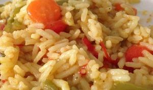Riz aux carottes et poivrons