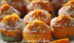 cupcakes à l'orange et aux noisettes