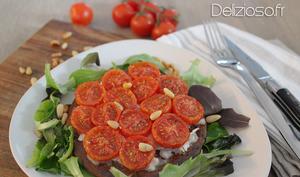 Tarte fine aux tomates confites