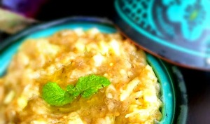 Salade d'Aubergine - Concombre à la Menthe
