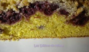 Streusel cake aux cerises