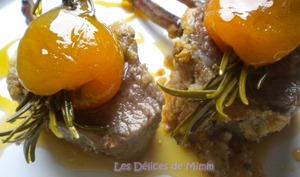 Carré d'agneau aux amandes et au caramel d'abricot