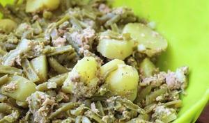 Salade de pommes de terre au thon et haricots vert