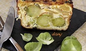 Cake aux choux de Bruxelles et au chorizo
