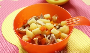 Poulet, carottes et pommes de terre - 10/12 mois