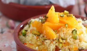 Couscous sucré à l'orange