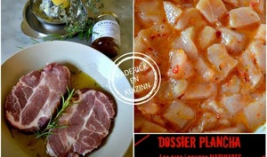 Dossier marinade et plancha de côte de boeuf au vin rouge