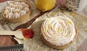 Tartelette citron groseille noisette sans oeuf