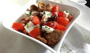 Salade figues, tomates et chèvre
