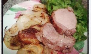 Rôti de porc pommes boulangères