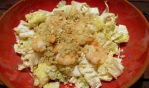 Chou chinois au quinoa et aux crevettes
