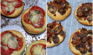Mini-pizza aux tomates