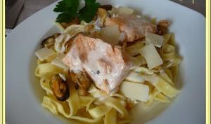 Tagliatelles sauce ail et parmesan