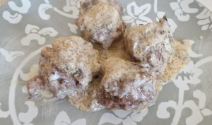 Boulettes de boeuf haché aux épices falafel et coriandre