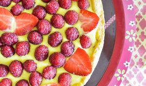 Tarte et tartelettes fraises et framboises