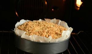 Gâteau crumble à la rhubarbe