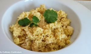 Risotto de chou-fleur au poulet et curry