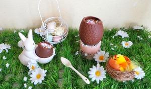 Oeuf de Pâques à la mousse au chocolat