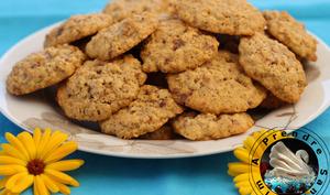 Cookies aux flocons d'avoine, pépites et noix