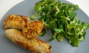 Nems au poulet miel et curry