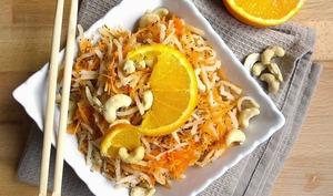 Salade crue carottes, céleri, orange et noix de cajou