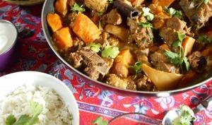 Curry d'agneau à la courge butternut