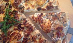 Pizza champignons-chèvre