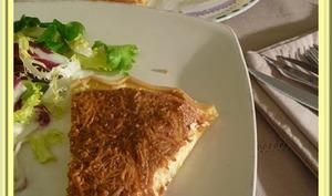 Tarte soufflée au crabe et au fromage