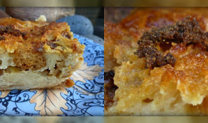 Pudding à la Brioche au Lait de coco, Rhum, Vanille & Muscovado Noir