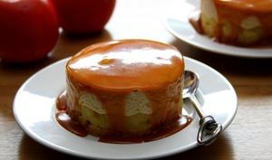 Entremets breton pommes et caramel