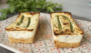Cheesecakes aux asperges
