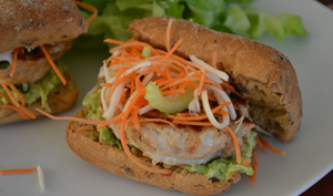 Burger façon Thaï sans gluten