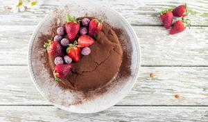 Gâteau super fondant au chocolat avec une cuisson au bain marie