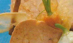 Nage glacée de foie gras