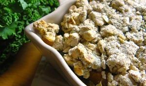 Crumble de potimarron et chou kale au lait de coco