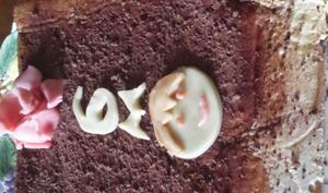 Tiramisu aux fraises, gâteau d'anniversaire, décor playmobil ®