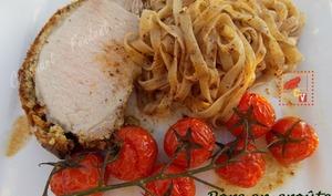 Porc en croûte d'olive