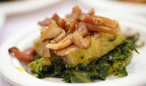Terrine de pommes de terre et d'épinards nouveaux