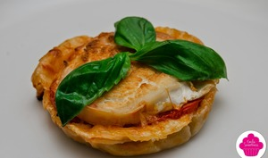 Tartelettes tomate chèvre basilic