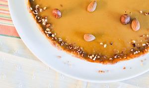 Tarte au praliné croustillant et au caramel