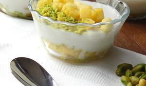 Muhallebi mangue-pistache