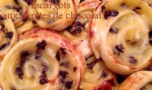 Escargots aux pépites de chocolat