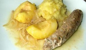 Saucisses de veau aux pommes