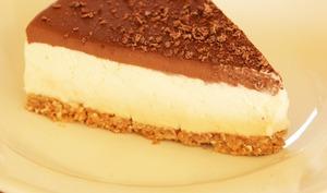 Bavarois vanille, chocolat et sablé croquant à la noix de coco