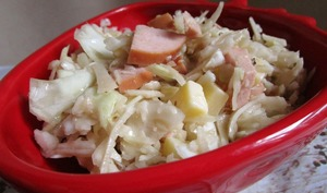 Salade de chou blanc alsacienne