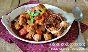 Boulette saucisse de Toulouse en sauce tomate aux saveurs Italienne