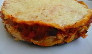 Lasagnes cabillaud aubergine et chorizo